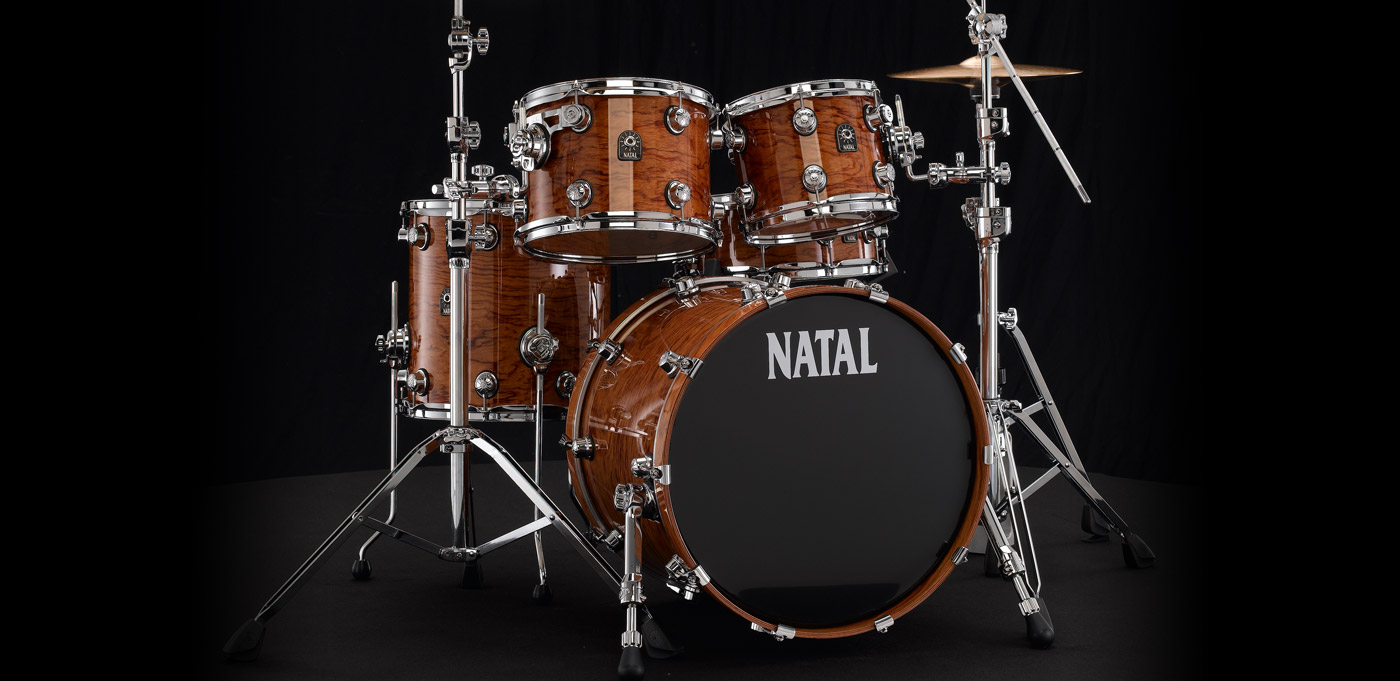New Natal Drums Fusion X 22″ Bubinga Drum Set @ Curly Lead